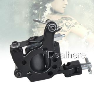10 Wrap Coils Black Tattoo Machine Gun Liner Shader