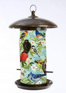 Bird Collage Art Outdoor Garden Hanging Bird Feeder Toland 202042 Birdfeeder