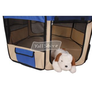 Dog Pet Puppy Kennel Exercise Pen Playpen Soft Crate Cat Feeder Fence Cage