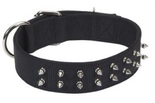 Macho Big Dog Double Ply Nylon Spike Collar 1 3 4""