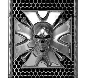 Truck Bed Decal Iron Cross Skull Head Dodge Ford Chevy Striping Graphics
