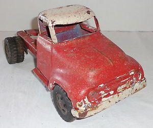 Tonka Pressed Steel Farm Toy Tractor Trailer Truck Cab for Parts or Restore
