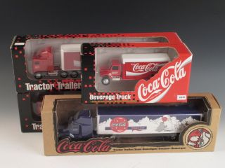 4 Ertl Coca Cola Tractor Trailer Semi Trucks