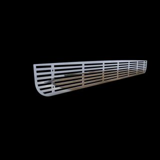 Hummer H3 06 10 Style Bumper Chrome Style Grille Grill Insert Polished Stainless