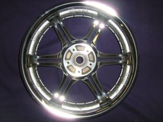 "Harley Davidson 16"" Chrome Slotted Six Spoke Wheel 43920 02"