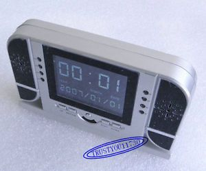 4GB LCD Spy Camera Alarm Clock Motion and Voice Detection Night Vision Remote