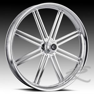 "Custom Wheels 21"" Set Chrome Custom Rims for Harley"