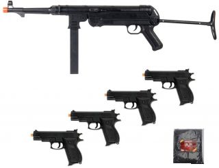 WWII German Mp40 Spring Rifle w Folding Stock Pistol Gun Airsoft Lot of 6