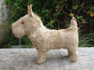 Vintage Antique German Putz Miniature Scottish Terrier Scotty Dog Teddy Bear 2