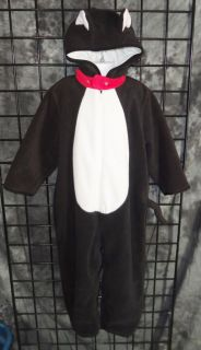 Baby Gap Black White Tuxedo Cat Costume Size 4 XL 4 Years Halloween Dress Up
