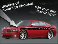 06 07 08 09 2010 Dodge Charger Side Stripe Decal Custom