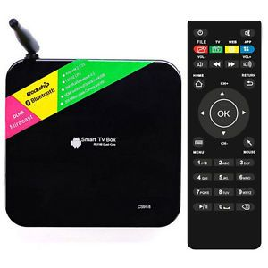 Quad Core Android 4 2 TV Box Bluetooth WiFi 8g Mic Camera Facebook Media Player