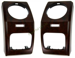 Landrover Discovery 3 LR3 Walnut Effect Dashboard End Dash Air Vent Facia Kit X2