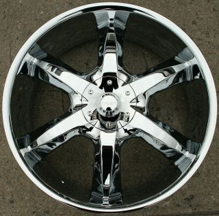 "Akuza Lacuna 760 22"" Chrome Rims Wheels Benz GL450 GL550 22 x 8 5 5H 35"