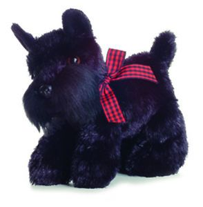 "Aurora Mini Flopsie Scotty Scottish Terrier Black Dog 8"" Plush New 30361"