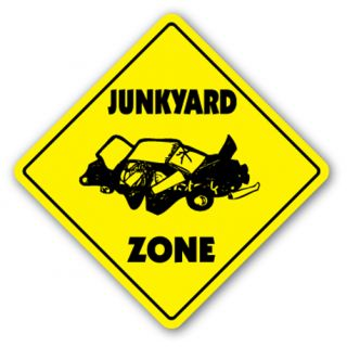 Junkyard Zone Sign Xing Gift Novelty Junk Yard Cars Truck Sanford Parts