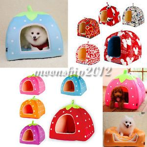 Various Design Soft Pet Dog Cat Bed House Kennel Doggy Warm Cushion Basket