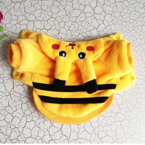 Hallowmas Cute Pikachu Pet Dog Thickened Clothes Costume Hoodie Coat Gift Size S