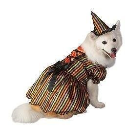 New Pet Dog Witch Costume Dress Hat Small S