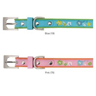 Pink or Blue Waterproof Hibiscus Collar Glow in The Dark Dog Pet Puppy Collar
