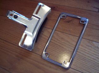 Harley Davidson Chrome LICENCE License Plate Tag Bracket Frame Holder Mount FXR