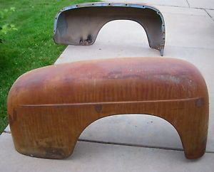 1951 Vintage Original Steel Ford F1 Rear Fenders Pair 1952 Pickup Truck