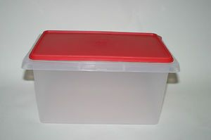 Tupperware Small Carry All Rectangular Storage Container Pet Food First Aid Kit