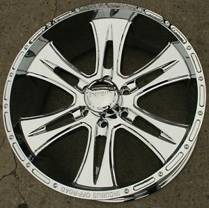 "Incubus Brawn 714 22"" Chrome Rims Wheels Hummer H3 06 10 22 x 9 5 6H 15"