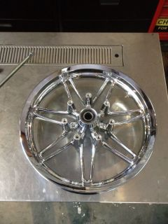 "Harley Davison Chisel Touring 17"" Chrome Front Wheel"
