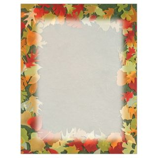 Translucent Fall Leaves Thanksgiving Fall Autumn Stationery Printer Paper