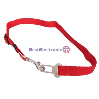 Pet Cat Useful P26O Adjustable Pet Cat Dog Safety Leads Car Seat Belt Deep Red