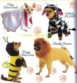 2839 Sewing Pattern Elvis Bee Cow Lion Uncut Celebrity Dog Costume Simplicity