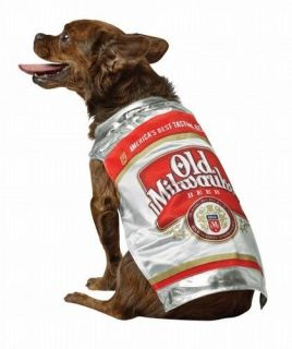 Old Milwaukee Beer Can Dog Pet Halloween Costume XS s M L XL