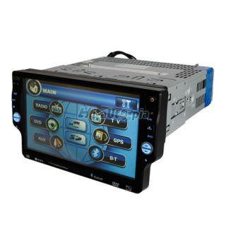 "7"" Touch Screen Bluetooth Car DVD Audio Video Player Single DIN Da 7550"