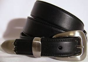 Nocona Belts Men's Western Casual Dress Accessories Black Leather Belt 44 NWT
