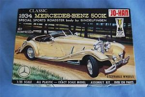 Vintage Jo Han 1934 Mercedes Benz 500K Model Car Kit Custom Classic Car Model
