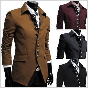 THELEES Mens Casual Slim Fitted Style Jacket Blazer Coat Best Collection