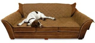 KH Mfg Dog Cat Pet Hair Dirt Furniture Couch Sofa Cover Protector Mocha KH7821