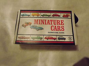 1966 Mattel Miniature Cars Carrying Case with 40 Cars Trucks