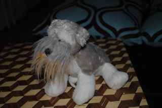 Ganz Webkinz Grey Scottish Terrier Plush Stuffed Animal Puppy Dog 9""