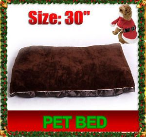 Portable Brown Warm Soft Dog Cat Pet Bed Cover Crate Cage Mat with Zipper
