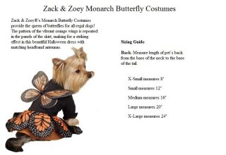 Halloween Dog Costume Monarch Butterfly Princess Dog Pet Puppy Costume Dress