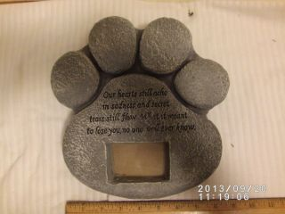 Paw Print Pet Dog Memorial Plaque Grave Marker