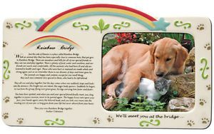 Memorial Sympathy Rainbow Bridge Pet Picture Frame 2472