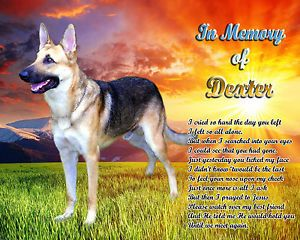 German Shepherd Dog Memorial Poem Personalized with Name Unique Pet Loss Gift
