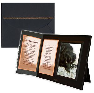 """Faithful Friend"" Poem Pet Loss Sympathy Frame Gift and Memorial Keepsake"