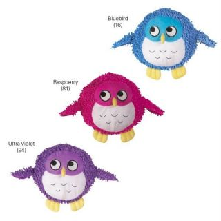 "Dog Plump Bunch Bird Toy Pet Puppy Play Toys Plush Grunts 8 25"" Blue Pink Purple"