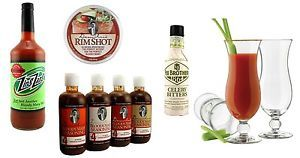 The Ultimate Bloody Mary Kit Seasoning Mix Rim Salt Bitters 4 Glasses