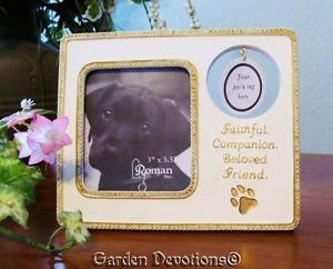 Loving Pet Dog Puppy Memorial Frame Hook for Their Pet Tag New