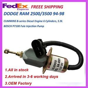 Replace Fuel Shut Off Solenoid 94 98 Dodge RAM Pickup Truck Cummins Diesel 5 9L